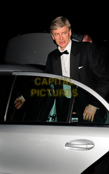 ARSENE WENGER.At the Cystic Fibrosis Liv Charity Event, Dorchester Hotel,.London, England, February 1st 2008..half length black bow tie suit tuxedo car door.CAP/CAN.?Can Nguyen/Capital Pictures