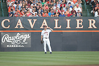 during the game against Arkansas Saturday night at Davenport Field in Charlottesville, VA. Photo/The Daily Progress/Andrew Shurtleff
