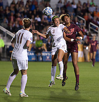 Nickolette Driesse, Candace Cephers. Florida State defeated Virginia Tech, 3-2,  at the NCAA Women's College Cup semifinals at WakeMed Soccer Park in Cary, NC.