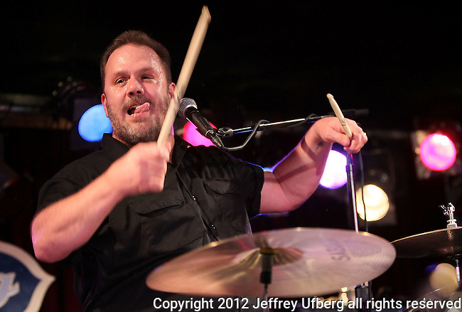"New York, January 27, 2012: Lead Singer / Drummer Fred LeBlanc of Cowboy Mouth performs ""BB King's Blues Club and Grill"" On January 27, 2012 in New York City."