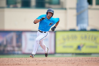 Miami Marlins catcher Cameron Barstad (6) running the bases during an Instructional League game against the Washington Nationals on September 25, 2019 at Roger Dean Chevrolet Stadium in Jupiter, Florida.  (Mike Janes/Four Seam Images)