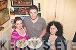 5101-5104.---------.Seafood Choice.--------------.Sampling the various food's on offer in Curren's bar main St,at the Dingle food&Wine Festival last weekend were L-R Olivia Flannigan,Mike Moore and Trish Murphy all from the town.