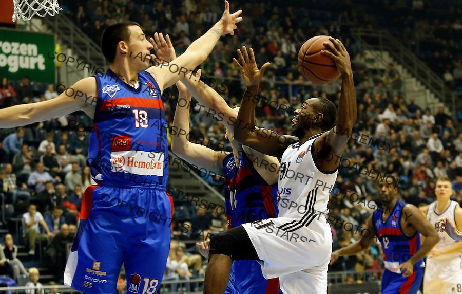 Vuk Radivojevic Jamar Wilson Aba regionalna liga Partizan - Igokea 27.12.1015. December 27. 2015. (credit image & photo: Pedja Milosavljevic / STARSPORT)