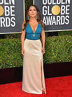 LOS ANGELES, USA. January 06, 2020: Salma Hayek arriving at the 2020 Golden Globe Awards at the Beverly Hilton Hotel.<br /> Picture: Paul Smith/Featureflash