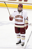 Tommy Atkinson (BC - 28) was named third star of the night after scoring his first collegiate goal. - The Boston College Eagles defeated the visiting University of Maine Black Bears 4-0 on Friday, November 19, 2010, at Conte Forum in Chestnut Hill, Massachusetts.