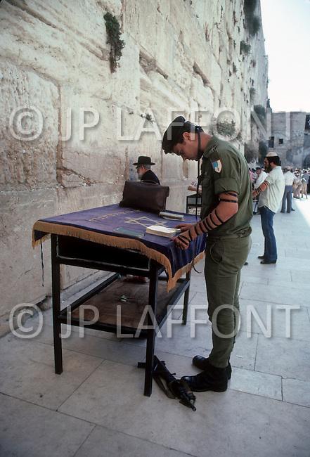 Jerusalem, Israel, November, 1980. The Wailing Wall.