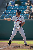 Lancaster JetHawks first baseman Roberto Ramos (22) at bat during a California League game against the San Jose Giants at San Jose Municipal Stadium on May 12, 2018 in San Jose, California. Lancaster defeated San Jose 7-6. (Zachary Lucy/Four Seam Images)