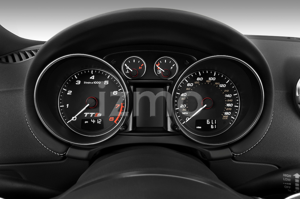 Instrument panel close up detail view of a 2010 Audi TTS Coupe