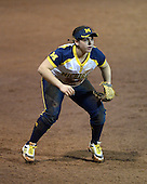 Michigan Wolverines Softball infielder Lindsay Montemarano (18) during a game against the University of South Florida Bulls on February 8, 2014 at the USF Softball Stadium in Tampa, Florida.  Michigan defeated USF 3-2.  (Copyright Mike Janes Photography)