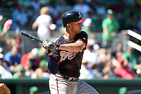 Atlanta Braves infielder Andrelton Simmons (19) during a Spring Training game against the Boston Red Sox on March 17, 2015 at JetBlue Park at Fenway South in Fort Myers, Florida.  Atlanta defeated Boston 11-3.  (Mike Janes/Four Seam Images)