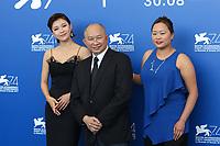 Ha Jiwon, John Woo, Angeles Woo at the &quot;Zhuibu (Manhunt) &quot; photocall, 74th Venice Film Festival in Italy on 8 September 2017.<br /> <br /> Photo: Kristina Afanasyeva/Featureflash/SilverHub<br /> 0208 004 5359<br /> sales@silverhubmedia.com