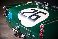BNPS.co.uk (01202 558833)<br /> Pic: PendineHistoricCars/BNPS<br /> <br /> The bumpers were removed to save weight...<br /> <br /> The little Triumph that triumphed at Le Mans...<br /> <br /> Yours for £300,000 this tiny TRS was one of a team of three that won the prestigious 24hr team race in 1961.<br /> <br /> The trio finished 9th, 11th and 15th, landing the manufacturer the team prize which is awarded to the entrants whose cars complete the most laps.<br /> <br /> Built in 1960, the car is powered by a 1900cc 'Sabrina' prototype engine specifically developed by the Triumph Competition department for the race, and with drum brakes all round, no roll bar, bumpers or even a roof it's not for the faint hearted.<br /> <br /> Only 4 of the stripped back and highly tuned racing cars were ever built, but their success fuelled the TR brand through the 60's and 70's until the proud Triumph name finally ceased production in 1984.