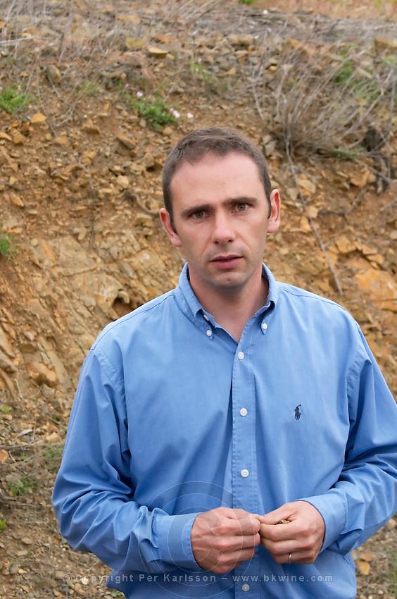 Stephane Gallet oenologist winemaker. Mas Amiel, Maury, Roussillon, France
