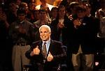 Senator John McCain (R-Arizona), Repubican presidential candidate, on the campaign trail. Clemson, South Carolina, USA, February 2000