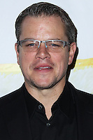 "WEST HOLLYWOOD, CA - NOVEMBER 13: Matt Damon at the ""Stand Up For Gus"" Benefit held at Bootsy Bellows on November 13, 2013 in West Hollywood, California. (Photo by Xavier Collin/Celebrity Monitor)"