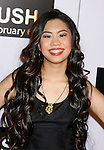 "WESTWOOD, CA. - January 29: Actress Ashley Argota arrives at the Los Angeles Premiere of ""Push"" at the Mann Village Theater on January 29, 2009 in Westwood, California."