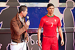Real Madrid´s Cristiano Ronaldo attends the official presentation of his waxwork sculpture at the Wax Museum in Madrid, Spain. December 07, 2013. (ALTERPHOTOS/Victor Blanco)