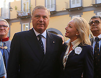 The Prince Carlo of  Borbone and his wife Camilla attend al the announcement of the liquefaction of the blood of San Gennaro, the patron saint of Naples, during the San Gennaro miracle announcement in the cathedral of Naples, 19 September 2016