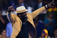 Canton, Ohio - August 2, 2019:  Ed Reed receives his Hall of Fame Gold Jacket at the Canton Civic Center in Canton, Ohio August 2, 2019.  (Photo by Don Baxter/Media Images International)