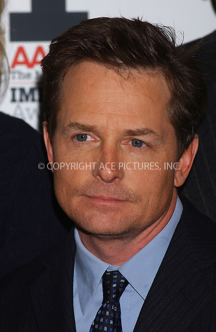"WWW.ACEPIXS.COM . . . . . ....NEW YORK, DECEMBER 5, 2005....Michael J. Fox arriving to the ""AARP The Magazine"" 2005 Impact Awards.. ..Please byline: KRISTIN CALLAHAN - ACEPIXS.COM.. . . . . . ..Ace Pictures, Inc:  ..Philip Vaughan (212) 243-8787 or (646) 679 0430..e-mail: info@acepixs.com..web: http://www.acepixs.com"