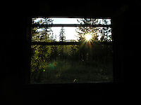 View from a barn near Glacier Park, Montana. Photo by Jason Cohn