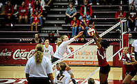 North Dakota State takes on the University of Wisconsin in NCAA women's volleyball during the InnTowner Invitational on Saturday at the UW Field House in Madison