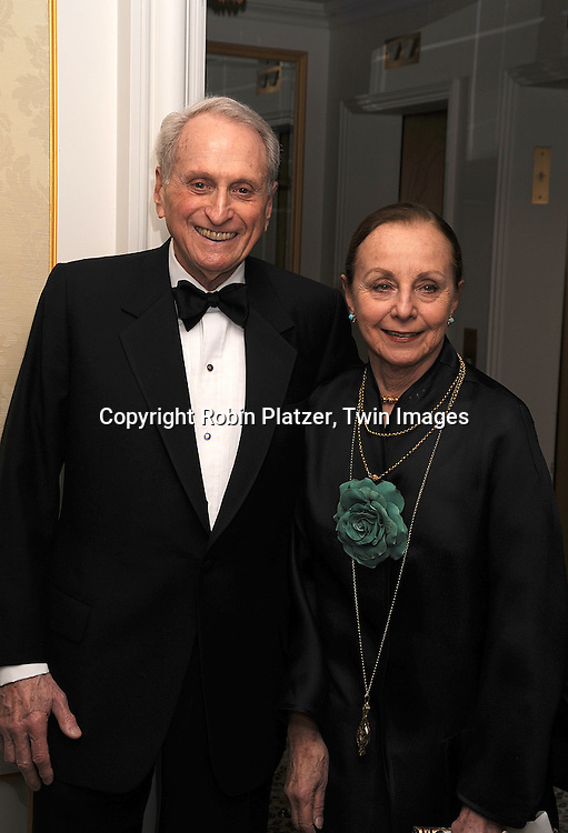 Herb Schlosser and wife..posing for photographers at The Museum of The Moving Image Gala honoring Matt Blank and James Schamus  on April 30, 2008 at The St Regis Hotel in New York City. ....Robin Platzer, Twin Images..