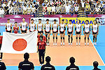 Japan team group line-up (JPN),<br /> AUGUST 17, 2013 - Volleyball :<br /> 2013 FIVB World Grand Prix, Preliminary Round Week 3 Pool M match Japan 1-3 United States at Sendai Gymnasium in Sendai, Miyagi, Japan. (Photo by Ryu Makino/AFLO)