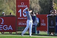 Rafael Cabrera-Bello (ESP) tees off on the 16th tee during Sunday's Final Round of the 2012 Omega Dubai Desert Classic at Emirates Golf Club Majlis Course, Dubai, United Arab Emirates, 12th February 2012(Photo Eoin Clarke/www.golffile.ie)