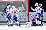 Uppsala 2013-11-13 Bandy Elitserien IK Sirius - IFK Kung&auml;lv :  <br /> Kung&auml;lv Ted Skoglund jublar med Kung&auml;lv Jakob Jenefeldt och lagkamrater efter att ha kvitterat till 4-4 i slutminuten<br /> (Foto: Kenta J&ouml;nsson) Nyckelord:  jubel gl&auml;dje lycka glad happy