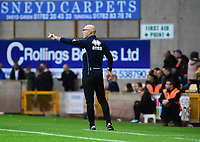 Port Vale manager Neil Aspin shouts instructions to his team from the technical area<br /> <br /> Photographer Andrew Vaughan/CameraSport<br /> <br /> The EFL Sky Bet League Two - Port Vale v Lincoln City - Saturday 13th October 2018 - Vale Park - Burslem<br /> <br /> World Copyright © 2018 CameraSport. All rights reserved. 43 Linden Ave. Countesthorpe. Leicester. England. LE8 5PG - Tel: +44 (0) 116 277 4147 - admin@camerasport.com - www.camerasport.com