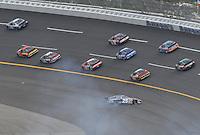 Apr 28, 2007; Talladega, AL, USA; Nascar Busch Series driver David Gilliland (25) spins during the Aarons 312 at Talladega Superspeedway. Mandatory Credit: Mark J. Rebilas