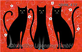 Kate, CUTE ANIMALS, LUSTIGE TIERE, ANIMALITOS DIVERTIDOS, paintings+++++Tall tails cats 3,GBKM432,#ac#, EVERYDAY ,cat,cats