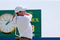 Jose Maria Olazabal (ESP) on the 1st during the 1st round of the 2017 Portugal Masters, Dom Pedro Victoria Golf Course, Vilamoura, Portugal. 21/09/2017<br /> Picture: Fran Caffrey / Golffile<br /> <br /> All photo usage must carry mandatory copyright credit (&copy; Golffile | Fran Caffrey)