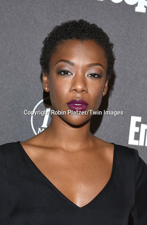 Samira Wiley attends the Entertainment Weekly &amp; PEOPLE Magazine New York Upfronts Celebration on May 16, 2016 at Cedar Lake in New York, New York, USA.<br /> <br /> photo by Robin Platzer/Twin Images<br />  <br /> phone number 212-935-0770