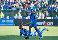 Chris Wondolowski disagrees with the offsides call. The San Jose Earthquakes tied DC United 1-1 at Buck Shaw Stadium in Santa Clara, California on July 3rd, 2010.