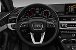 Car pictures of steering wheel view of a 2018 Audi A4 Premium 4 Door Sedan