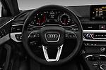 Car pictures of steering wheel view of a 2018 Audi A4 Premium 4 Door Sedan
