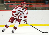 Chris Huxley (Harvard - 28) - The Harvard University Crimson defeated the St. Lawrence University Saints 4-3 on senior night Saturday, February 26, 2011, at Bright Hockey Center in Cambridge, Massachusetts.