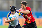 China plays Kazakhstan during the17th Asian Games 2014 Rugby Womens Sevens tournament on October 02, 2014 at the Namdong Asiad Rugby Field in Incheon, South Korea. Photo by Alan Siu / Power Sport Images