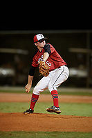 Parker Maddox during the WWBA World Championship at the Roger Dean Complex on October 19, 2018 in Jupiter, Florida.  Parker Maddox is a right handed pitcher from Columbus, Indiana who attends Columbus North High School and is committed to Ohio.  (Mike Janes/Four Seam Images)