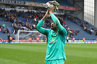 Blackburn Rovers' David Raya applauds the crowd at the end of todays match<br /> <br /> Photographer Rachel Holborn/CameraSport<br /> <br /> The EFL Sky Bet League One - Blackburn Rovers v Southend United - Saturday 7th April 2018 - Ewood Park - Blackburn<br /> <br /> World Copyright &copy; 2018 CameraSport. All rights reserved. 43 Linden Ave. Countesthorpe. Leicester. England. LE8 5PG - Tel: +44 (0) 116 277 4147 - admin@camerasport.com - www.camerasport.com