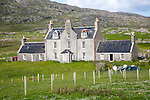 Historic Church of Scotland manse house building, Barra, Outer Hebrides, Scotland, UK