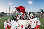 Torrance, CA 05/08/13 - The Palos Verdes team huddle before the start of the championship game against Harvard Westlake.