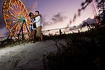 100210 Daytona Beach, Florida engagement session of Rhiva and Josh