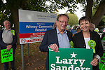 Green Party Co-leader, MP Caroline Lucas helps Larry Sanders, Brother of Senator Bernie Sanders,  to  launch <br />