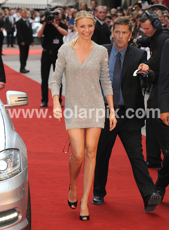 **ALL ROUND PICTURES FROM SOLARPIX.COM**.**WORLDWIDE SYNDICATION RIGHTS**.UK Premiere of Knight and Day.  Held at the Odeon, Leicester Square, London.This pic:     Cameron Diaz.JOB REF:    11740   SSD     DATE:     22.07.10.**MUST CREDIT SOLARPIX.COM OR DOUBLE FEE WILL BE CHARGED**.**MUST NOTIFY SOLARPIX OF ONLINE USAGE**.**CALL US ON: +34 952 811 768 or LOW RATE FROM UK 0844 617 7637**