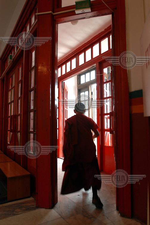 A monk in a Buddhist monastery in Kyzyl.