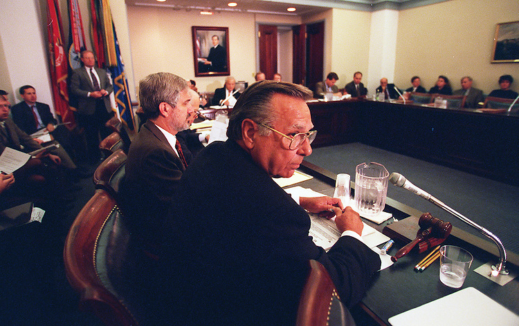10/28/97. FOREIGN APPROPRIAITIONS CONFERENCE:Chairman Sonny Callahan,R-Ala.,makes his opening statements during the foreign appropriaitions conference..CONGRESSIONAL QUARTERLY PHOTO BY DOUGLAS GRAHAM