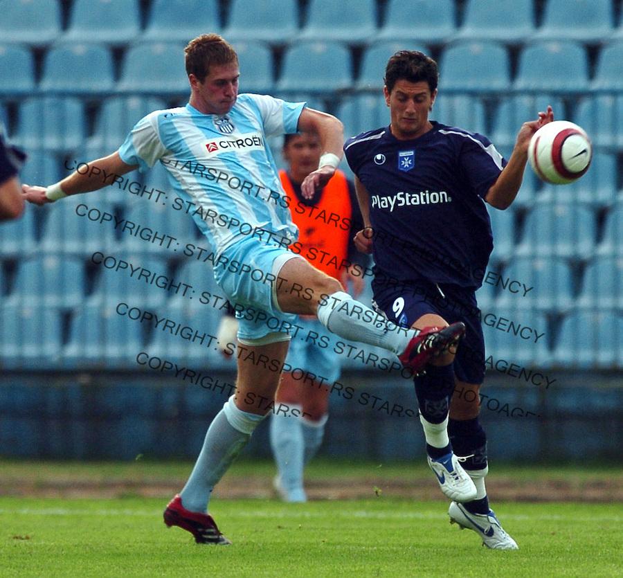 SPORT FUDBAL SOCCER OFK BEOGRAD AUXERRE OKSER UEFA CUP QUALIFIERS GAME Slobodan Rajkovic  8.8.2006. photo: Pedja Milosavljevic<br />